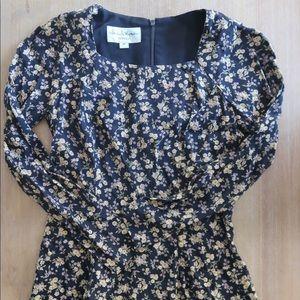 Vintage Elizabeth wayman size 2 floral dress